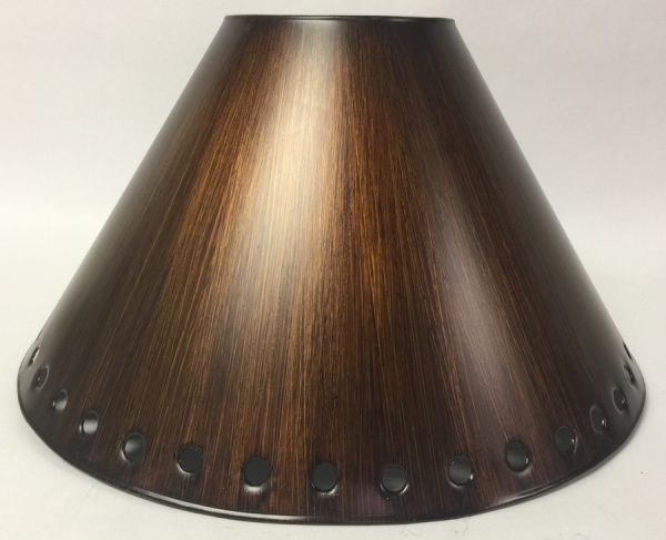 Empire style metal lamp shade antique finish