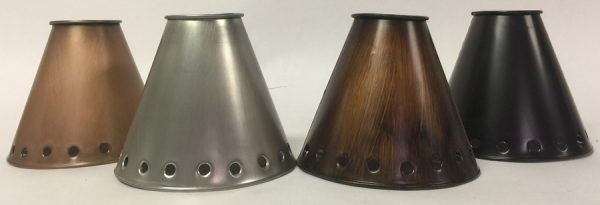 Metal ceiling fan shades in several finishes