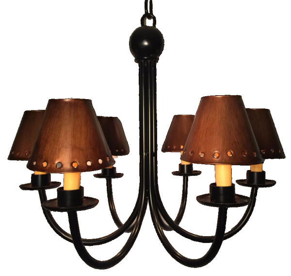 Metal sconce lamp shades antique finish