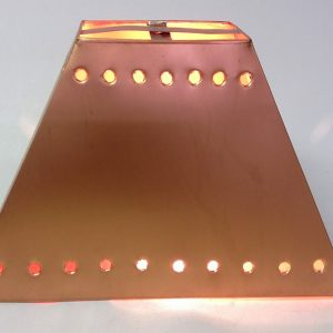 Pyramid Lamp Shade with Solid Design copper finish