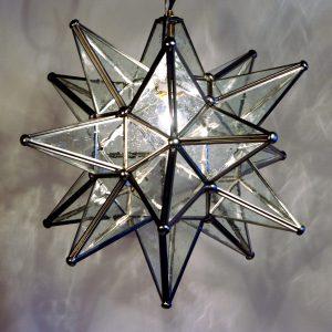Glass Moravian Star Pendant Light