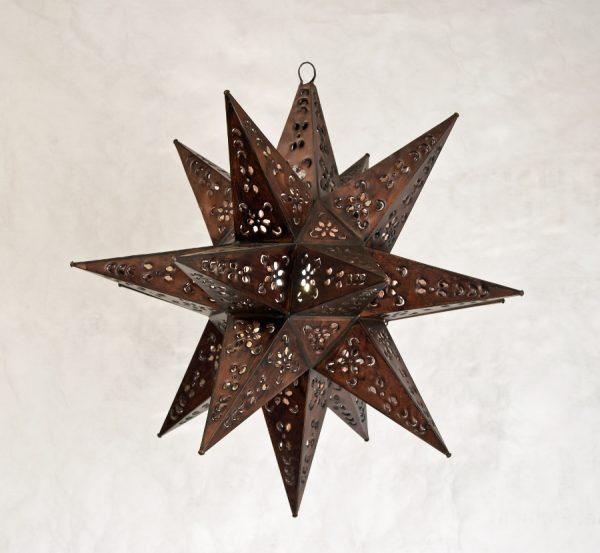 Tin Moravian Star Light-Antique