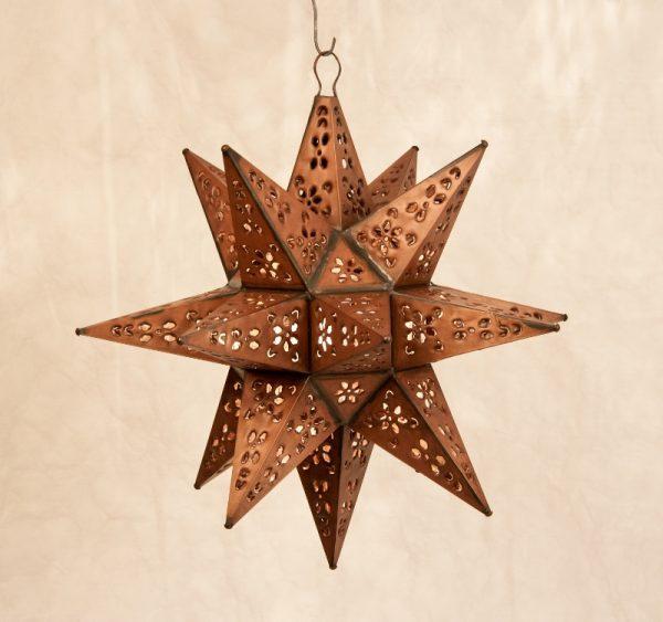 Tin Moravian Star Light-Copper