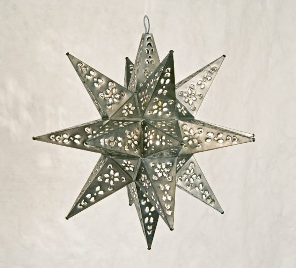 Tin Moravian Star Pendant Light - Small