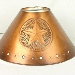Metal Empire lamp shades antique finish star design