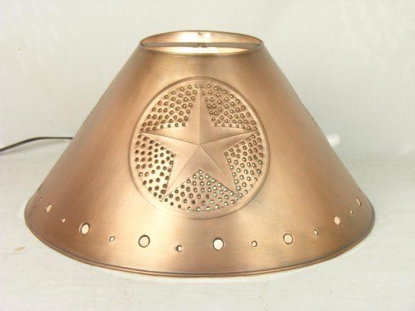 Metal Empire lamp shades copper finish star design