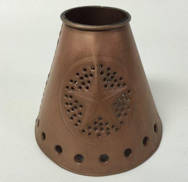Ceiling fan lamp shade tin star design in copper finish
