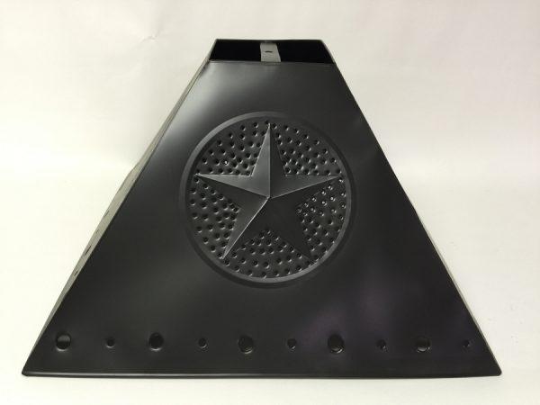 Pyramid style lamp shade star design dark bronze finish