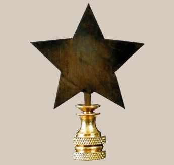 Tin star lamp finial