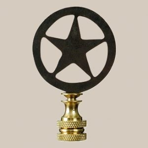 Star in a circle lamp finial