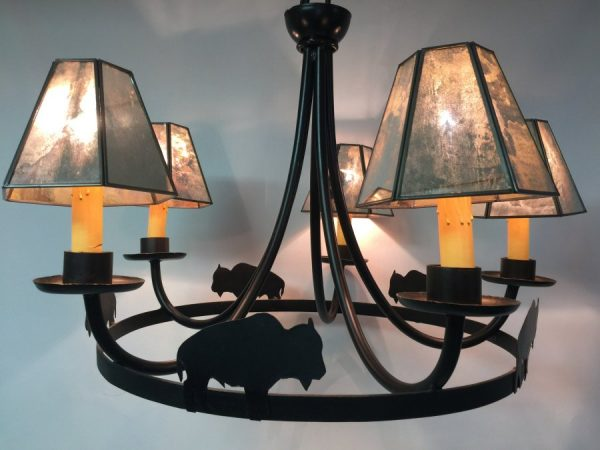 Antique mirror chandelier shades