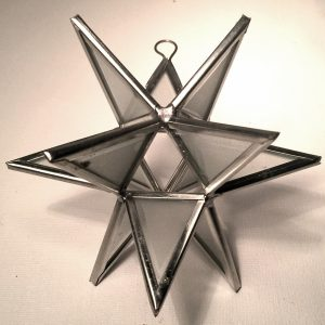 Moravian star ornament frosted glass