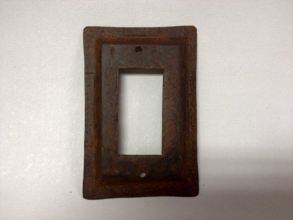 Metal Switch plate rustic tin rounded corners