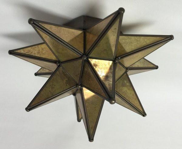 Antique Glass Moravian Star Ceiling Light
