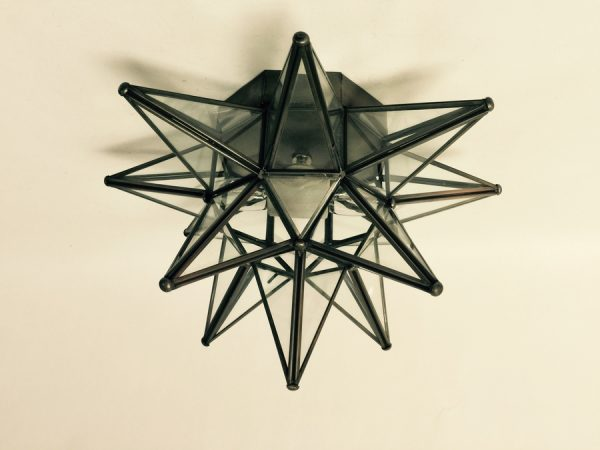 Clear Glass Moravian Star Ceiling Light