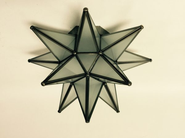 Frosted Glass Moravian Star Ceiling Light
