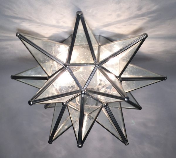 Glass Moravian Star Ceiling Light Wall Sconce