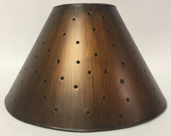 Metal Empire lamp shade with berber dots in antique finish