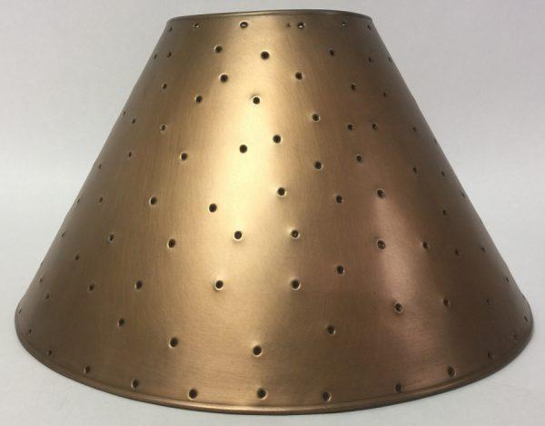Metal Empire lamp shades copper finish berber dots