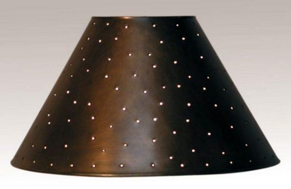 Metal empire lamp shade in dark bronze with berber dots