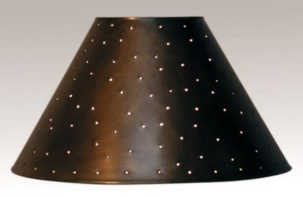 Metal Empire lamp shades dark bronze finish berber dots