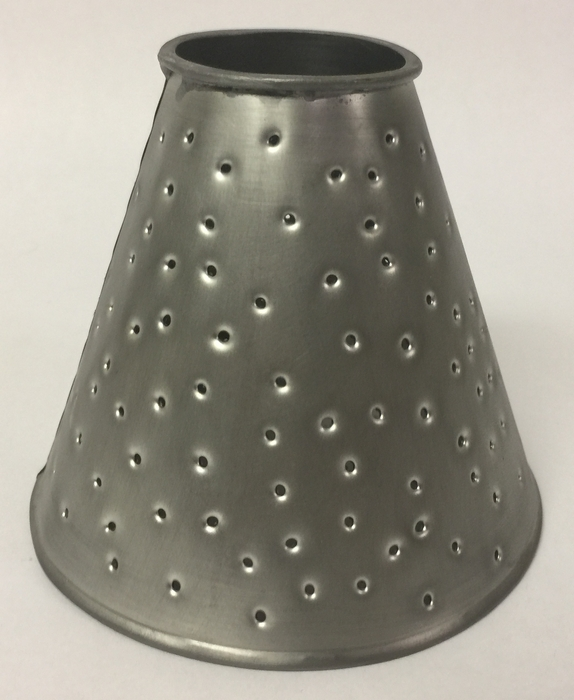 Ceiling fan lamp shade tin berber dots in pewter finish