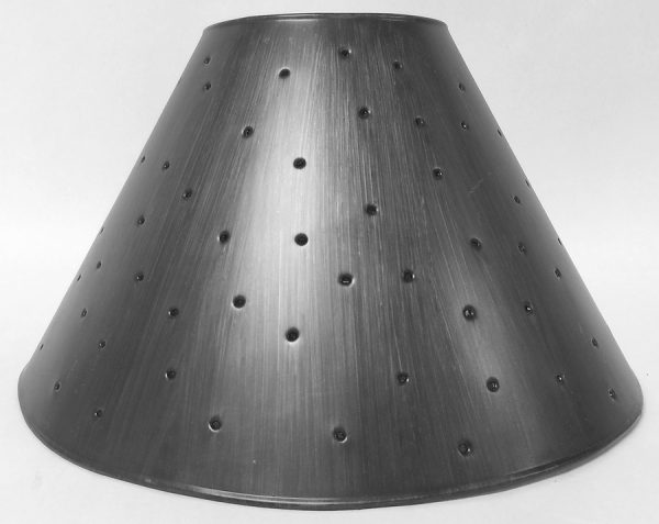 Pewter Empire lamp shades with berber dots