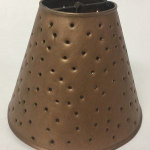 Metal chandelier sconce shade with berber dots in copper finish