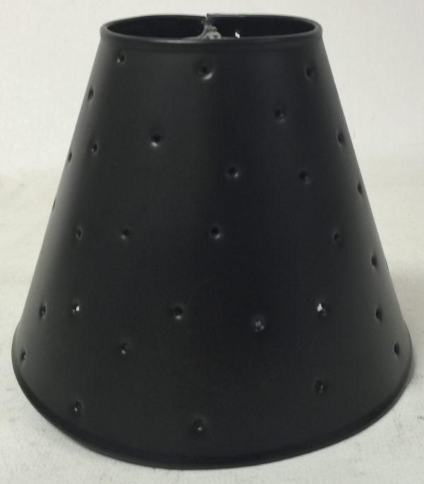 Metal chandelier sconce shade with berber dots in dark bronze