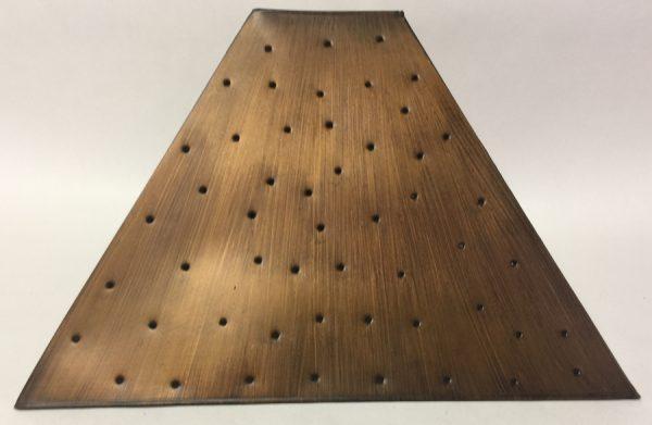Pyramid style lamp shade berber dot antique finish