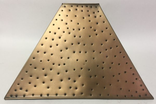 Pyramid style lamp shade berber dot copper finish