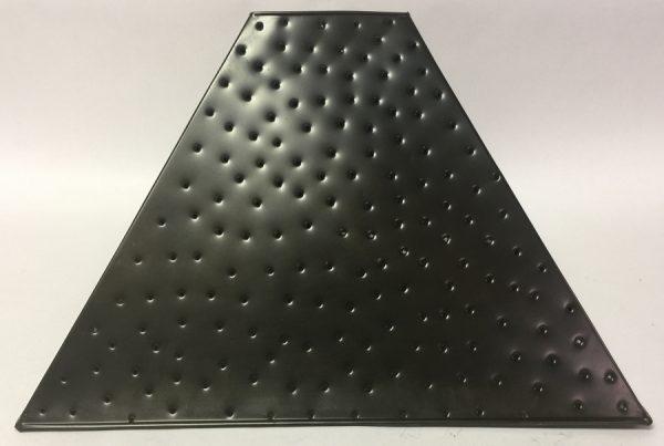 Pyramid style lamp shade berber dot dark bronze finish