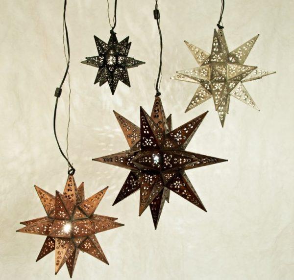 Tin Moravian Star Lights