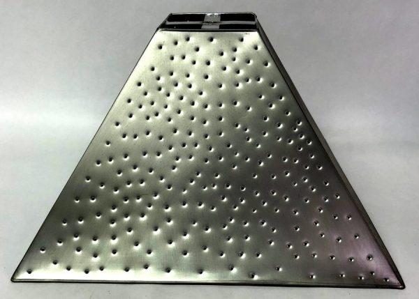 Pyramid style lamp shade berber dot pewter finish